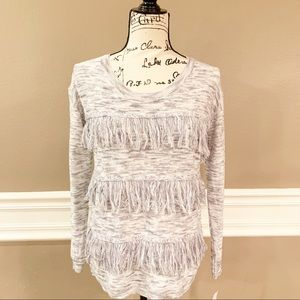 NWT Gianni Bini Fringe Sweater, Size Small